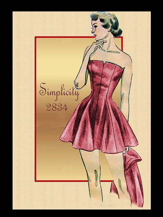 Simplicity 2834 Vintage 1940s Bathing Suit by FloradoraPresents, $50.00