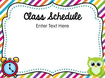 owl back to school open house powerpoint template