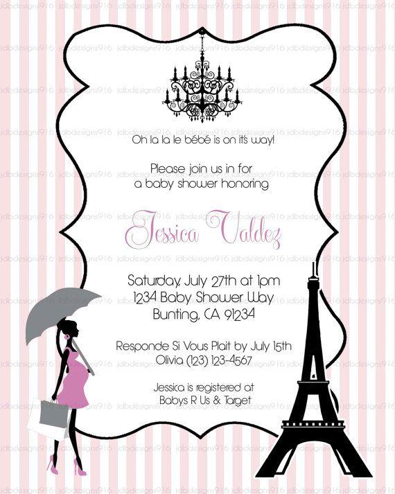 paris themed baby shower invites stripes by jdbdesigns916 on etsy 10