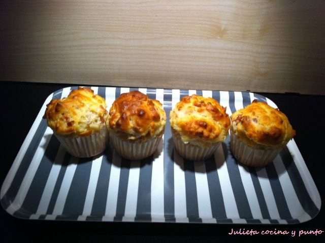 Receta de Cupcakes de jamn y queso