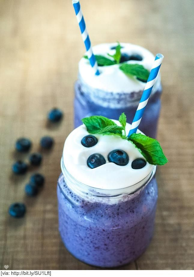 Blueberry smoothies | Recipes | Pinterest