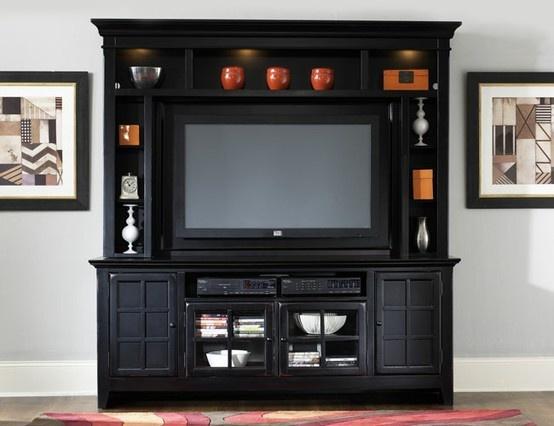 entertainment center ideas casual cottage. Black Bedroom Furniture Sets. Home Design Ideas