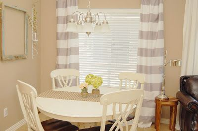 grey and white striped curtains little girls room nursery pinter