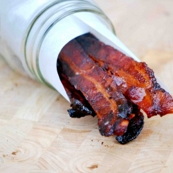 Cider Maple Glazed Bacon - It's bacon and it's glazed. Talk amongst yourselves.