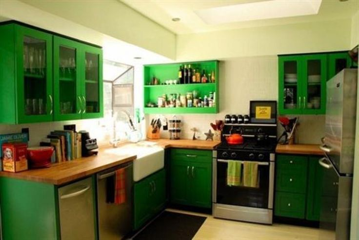 Green Cabinets Kitchen Dining Area Pinterest