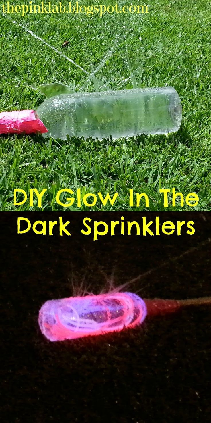 DIY Glow In The Dark Sprinklers- what a great idea for Summer Fun!