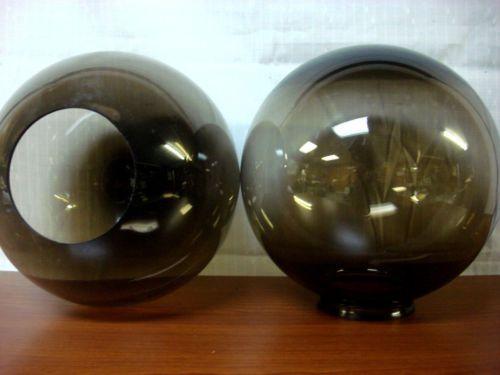 10 smoke round globe light fixture outdoor indoor lamp. Black Bedroom Furniture Sets. Home Design Ideas