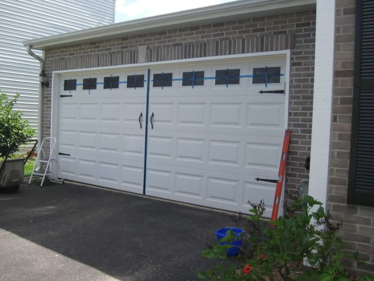 Diy Carriage Garage Doors On The Cheap Home Ideas