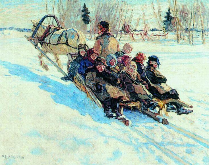 Nikolay Bogdanov-Belsky , To School