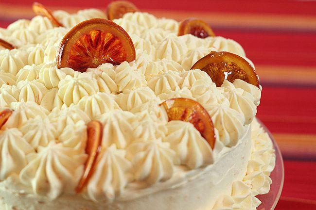 Ricotta Pound Cake with Blood Orange Filling, Whipped Cream Mascarpone ...
