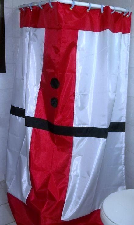 Cortina navide a cortinas de ba o pinterest - Cortinas de papel para navidad ...