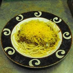 Authentic Cincinnati Chili. Love me some Skyline Chili!