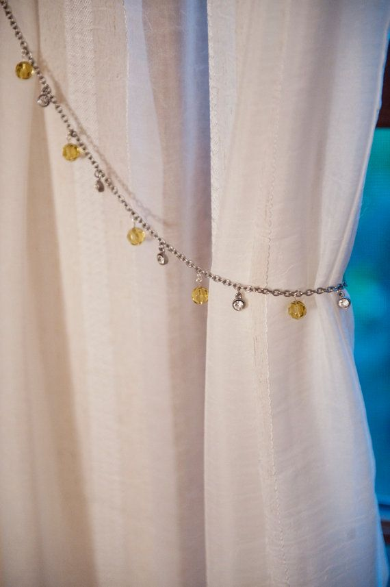 Curtain Tiebacks. Silver and Gold Curtain Tiebacks. by YoursTrulli, $ ...
