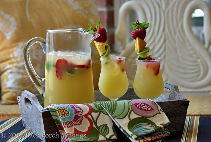 Yum! This concoction of pineapple juice, limeade, and lots of other ...