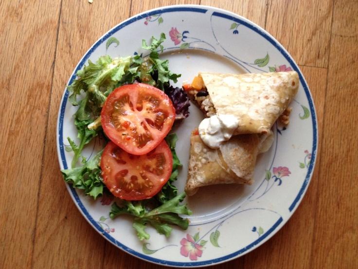 Butternut squash and black bean burrito - best healthy recipe ever!