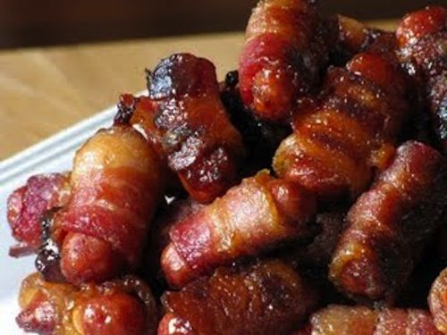 Bacon-Wrapped Little Smokies | Appetizers. | Pinterest