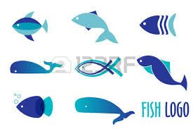 Appealing jumping fish vector images