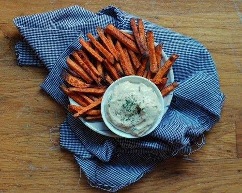 Perfect Baked Sweet Potato Fries with Tahini Aioli (Vegan, Gluten-Free ...