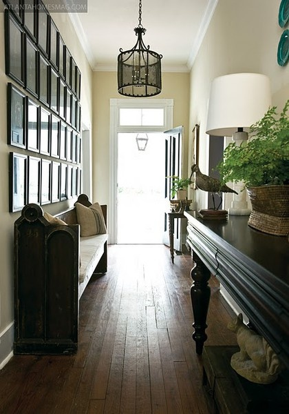 Church Foyer Seating : Old church pew at entryway interiors foyers halls