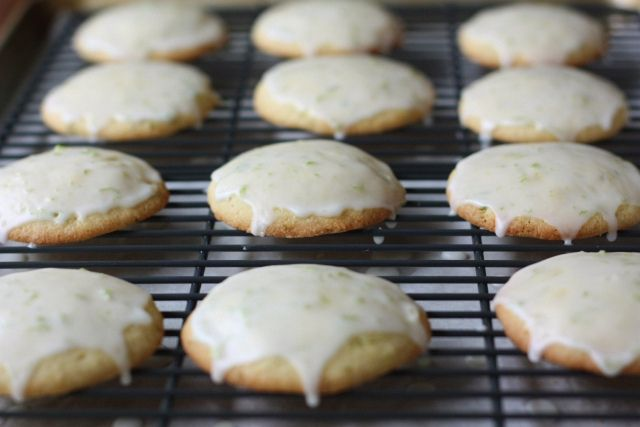 Cornmeal Lime Cookies. I had a version of this in Oakland this weekend ...