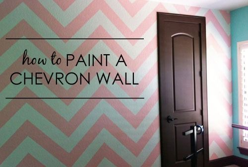 How to Paint a Chevron Wall {tutorial from Project Nursery} - #DIY #nursery #chevron