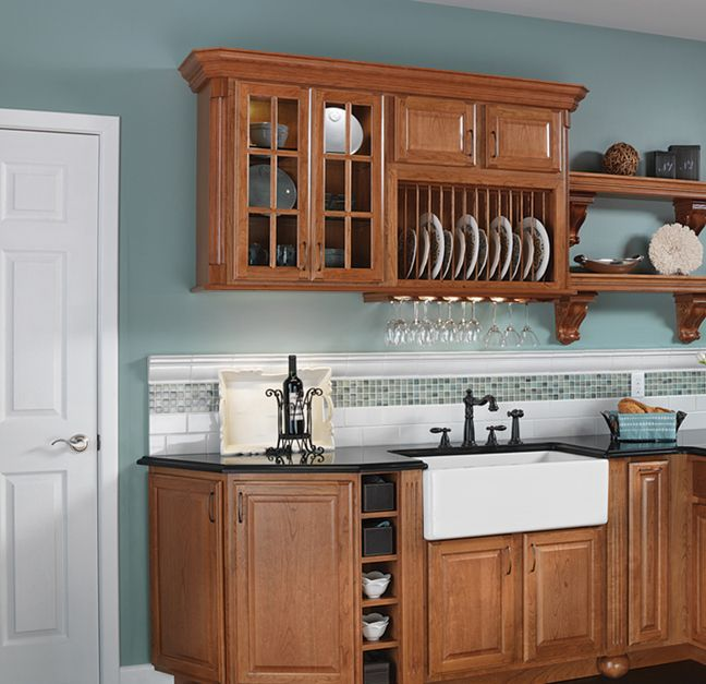 Heritage2 Cherry Amber  QualityCabinets  House Redesign Ideas  Pin