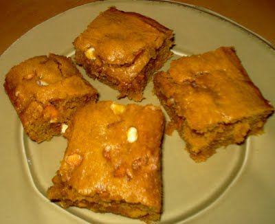 Pumpkin Blondies | Cakes and Cookies | Pinterest