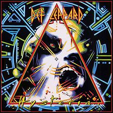 Def Leppard 'Hysteria' album cover by the great album designer in the world. Andie Airfix