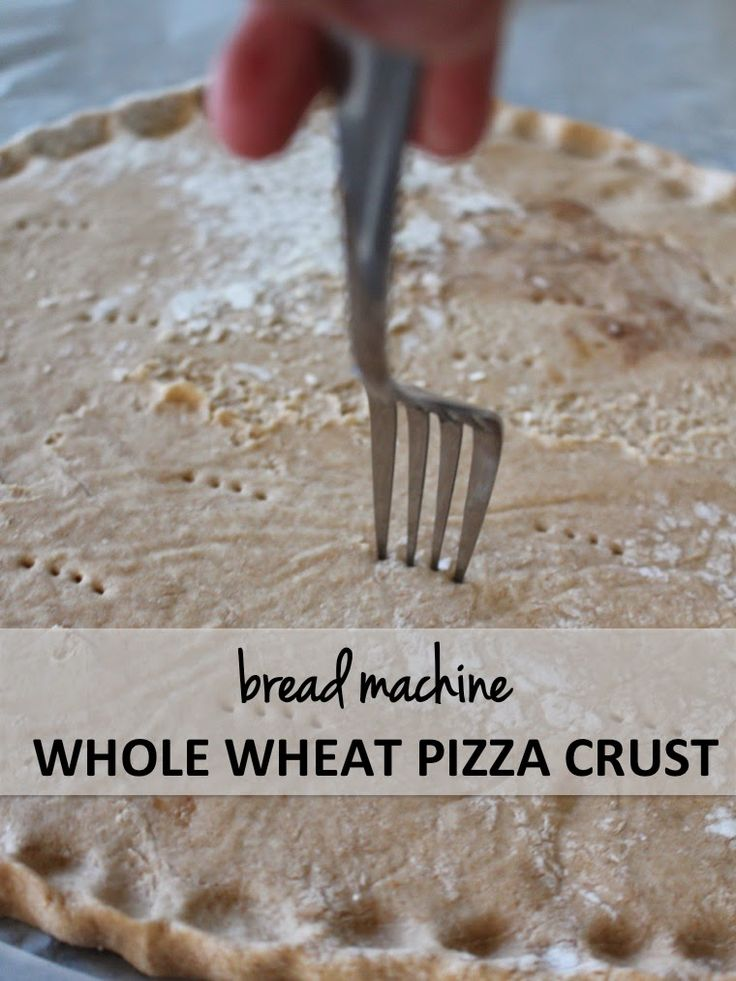 Whole Wheat + Flax Seed Pizza Dough - Bread Machine Pizza Dough