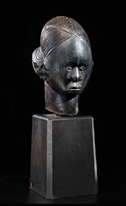 Unidentified Fang artist (Betsi group); Gabon, Sculptural Element from a Reliquary Ensemble: Head, Before 1914, Wood, H.: 23.2 cm, Curtis Galleries