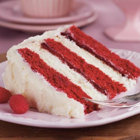 Raspberry-Cream Layer Cake Recipe — Dishmaps