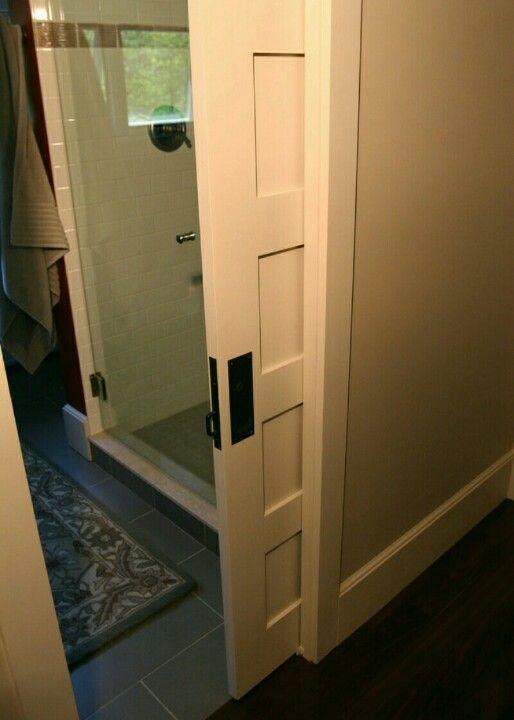 pocket door house bathroom
