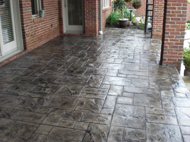 Stamped Concrete Screened Porches : Stamped porch concrete pinterest
