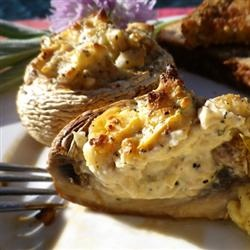 Mouth-Watering Stuffed Mushrooms. Easy and Delish, we don't even ...