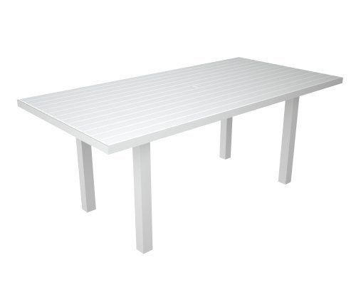 poly wood at3672fawwh euro 36 inch by 72 inch dining table white