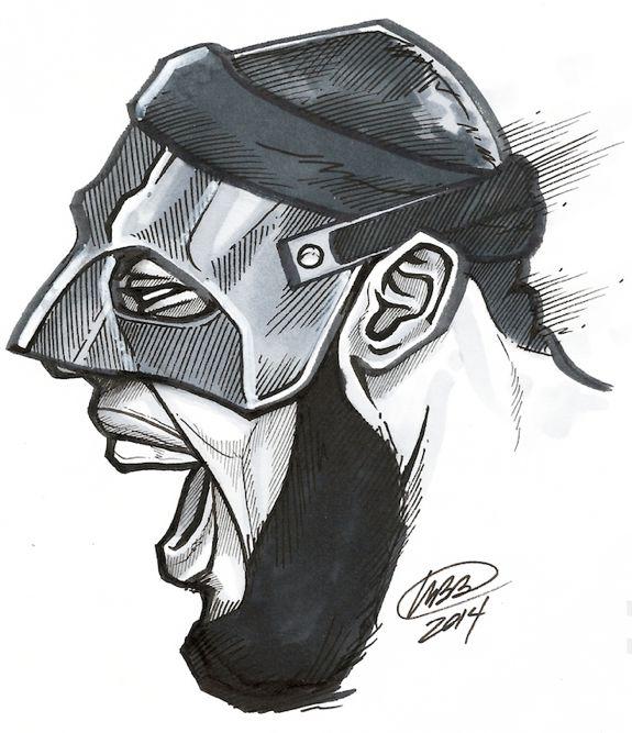 LeBron James  Screaming Black Mask  Illustration - Hooped UpLebron James Screaming
