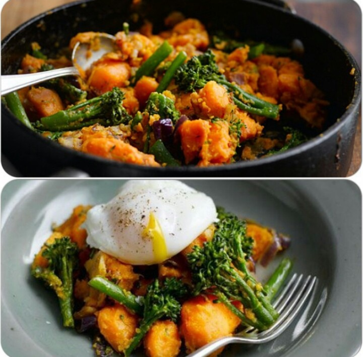 Broccoli Potato And Bacon Hash Recipe — Dishmaps
