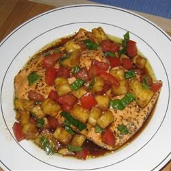 Salmon with Pineapple Tomato Salsa | Recipe