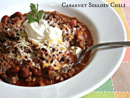 Cabarnet Sirloin Chili. | Ring the Alarm! Chili! | Pinterest