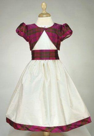 Tartan Flower Girl Dresses High Cut Wedding Dresses