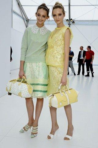 Nueva Tendencia de Pasteles, está por todas partes! Aqui, en el desfile de Louis Vuitton de Primavera Verano 2012