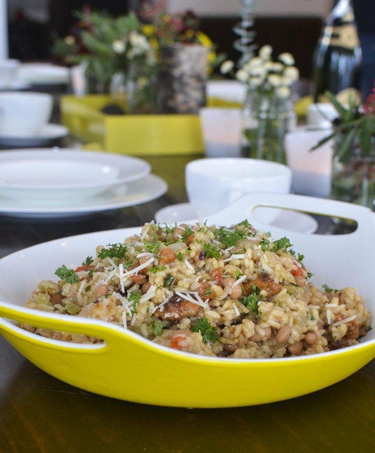 Recipe: Hoppin' John Risotto with Collard Pesto — Recipes from The ...