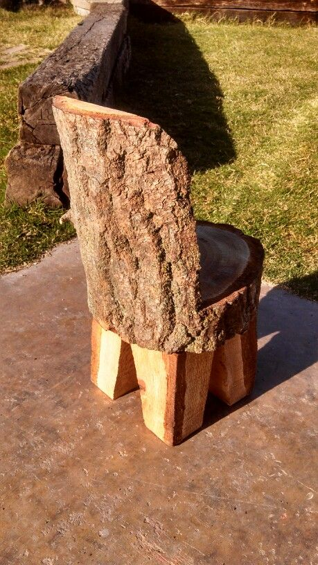 Log chair for kids chainsaw carvings pinterest