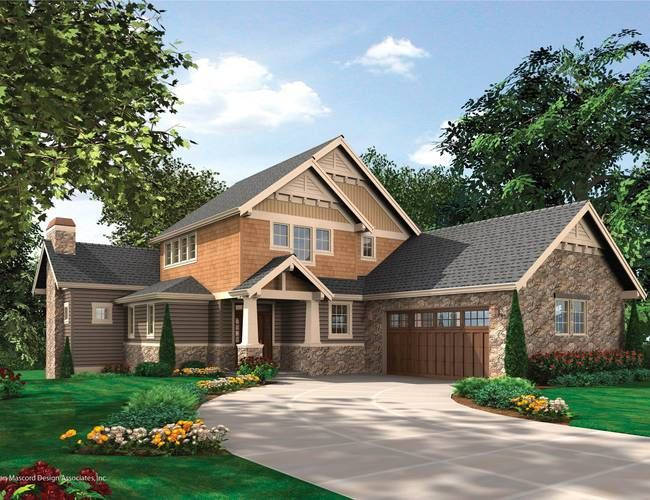 Mascord house plan 2387 House plans mascord