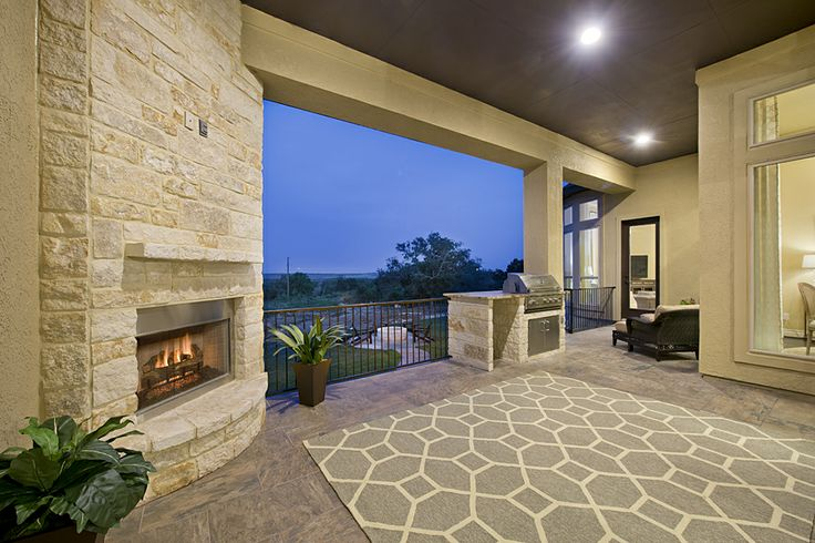 Havenwood Stucco Model Home Stunning Covered Backyard