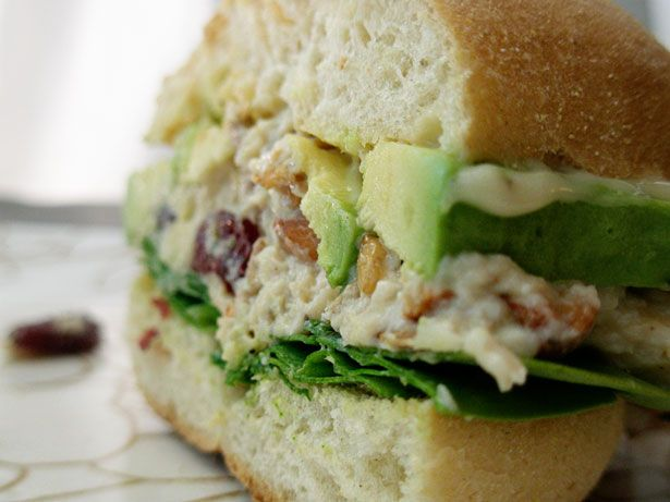 Chicken Salad Sandwich Maybe won't use the cranberries, but it sounds ...