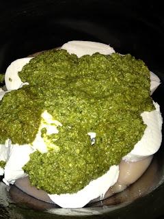 Glam Hungry Mom: Pesto Mozzarella Chicken with Sweet Potatoes