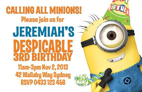 Despicable Me Birthday Invitation with nice invitation sample