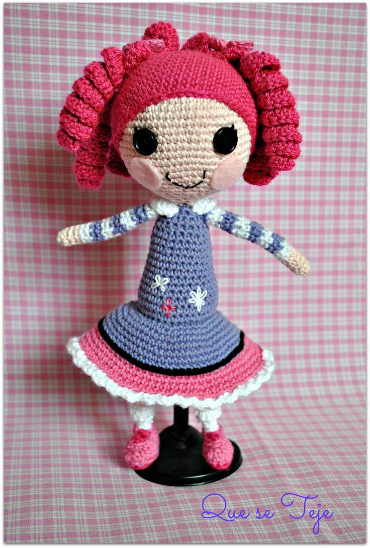 Crochet Wedding Dolls Pattern : Lalaloopsy doll crochet crochets hats for babies Pinterest