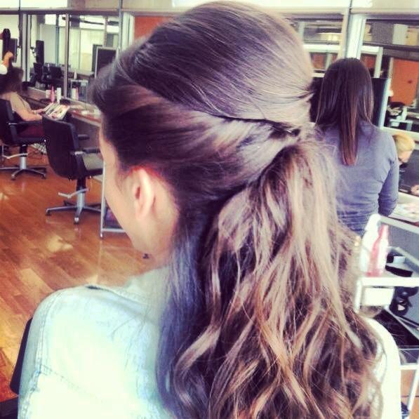 Long hair pulled back pony pinterest